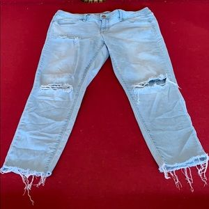 Mossimo Supply Co. Jeans - Mossimo Mid Rise Distressed Denim Leggings Crop
